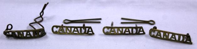 [CAMC epaulet bars belonging to Margaret Grace McBean.]