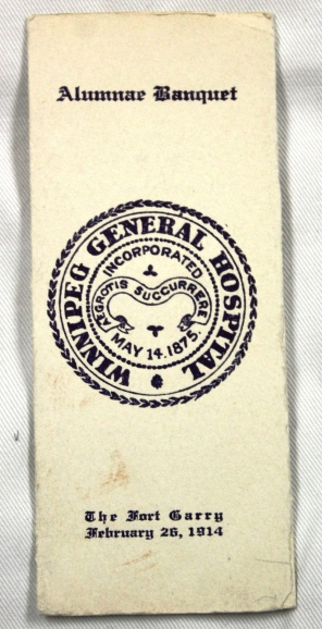 [Invitation to Winnipeg General Hospital Alumnae Banquet, 1914]