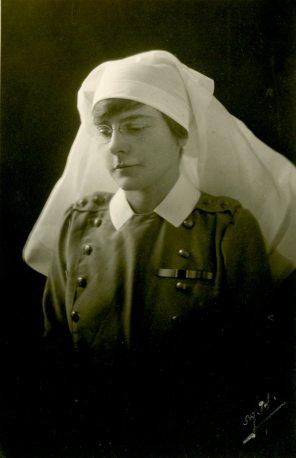[Ethel Theodora Paynter wearing CAMC uniform.]