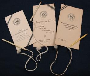 [Manitoba Medical Students Association dance cards belonging to Theodora Paynter, 1911-1913]