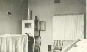 Incubator in nursery on WGH Maternity floor, ca. 1916-1919. HSC Archives/Museum 2003.10.15 F4_P2_022