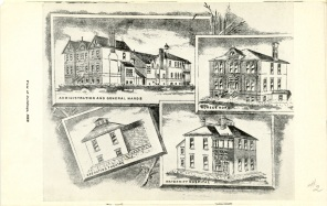 Drawings of buildings, 1888, Safeguarding Motherhood Official Opening of Maternity Pavilion Booklet, 1950, Pg. 22. HSC Archives/Museum 2009.11.17
