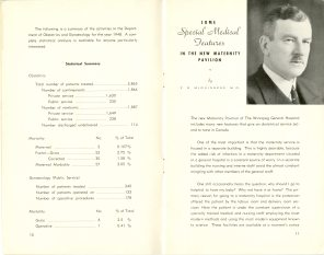 Safeguarding Motherhood Official Opening of Maternity Pavilion Booklet 1950 Page 10,11