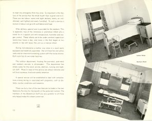 Safeguarding Motherhood Official Opening of Maternity Pavilion Booklet 1950 Page 12,13