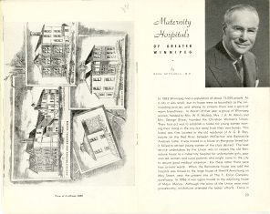Safeguarding Motherhood Official Opening of Maternity Pavilion Booklet 1950 Page 22,23