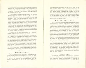 Safeguarding Motherhood Official Opening of Maternity Pavilion Booklet 1950 Page 26,27