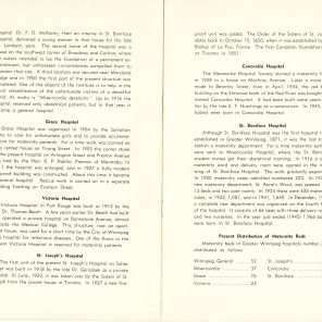 Safeguarding Motherhood Official Opening of Maternity Pavilion Booklet 1950 Page 28,29