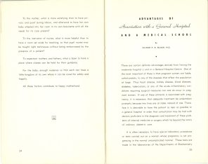 Safeguarding Motherhood Official Opening of Maternity Pavilion Booklet 1950 Page 34,35
