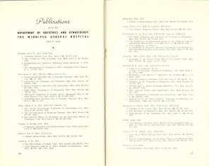 Safeguarding Motherhood Official Opening of Maternity Pavilion Booklet 1950 Page 42,43