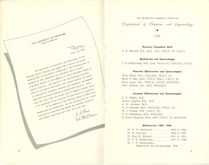 Safeguarding Motherhood Official Opening of Maternity Pavilion Booklet 1950 Page 8,9