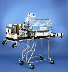 Ground transport incubator system, 1990. HSC Archives/Museum 2016_128_002