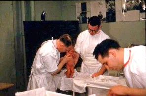 Staff caring for neonates in the NICU, ca. 1980s. HSC Archives/Museum 2018_29