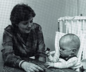 Neonatology taken for promo poster, 2002. HSC Archives/Museum 2018_029