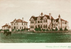 Maternity Hospital, Nurses Home, Administrative building, 1885. HSC Archives/Museum HSAM16