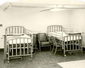 Semi-private patient room in Maternity Pavilion, circa 1950. HSC Archives/Museum 999.4.20 F4_P2_023 2