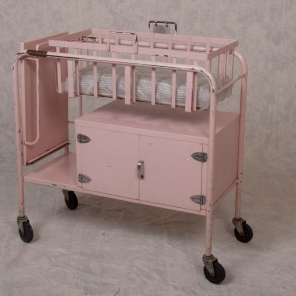 Pink Bassinet circa 1950s. HSC Archives/Museum 2016_150_001