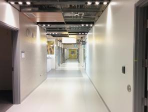 Construction of new Women's Hosptial, Interior, 2018, hallway. HSC Communication