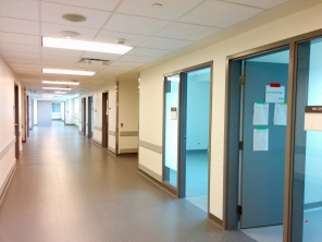 Construction of new HSC Women's Hosptial, Interior, 2018, hallway. HSC Communication