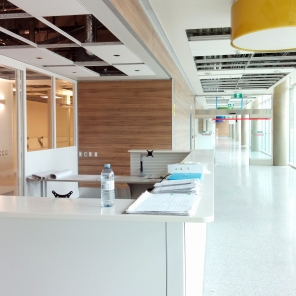 Construction of new HSC Women's Hospital, Interior, 2018, Outpatient area. HSC Communication