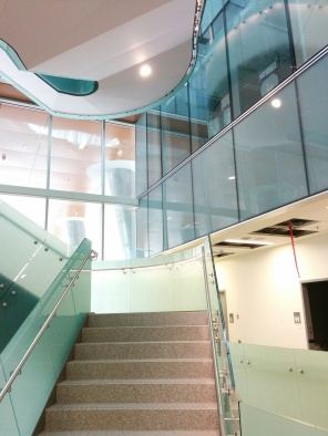 Construction of new HSC Women's Hospital, Interior, 2018, main staircase. HSC Communication