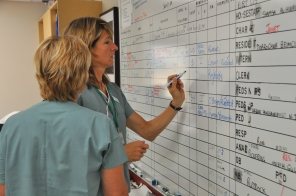 OR patient board, 2009. HSC Communications