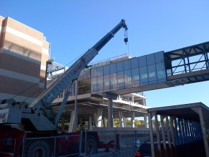 Construction of new HSC Women's Hospital, 2014, connection to HSC Children's Hospital. HSC Communications