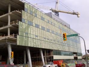 Construction of new HSC Women's Hospital, 2014, exterior. HSC Communications