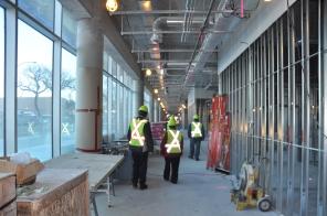 Construction of new HSC Women's Hospital, 2014, interior outpatient clinics. HSC Communications