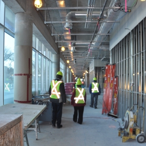 Construction of new HSC Women's Hospital, 2014, interior outpatient clinics. HSC Communications