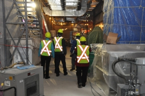 Construction of new HSC Women's Hospital, 2014, interior tour. HSC Communications