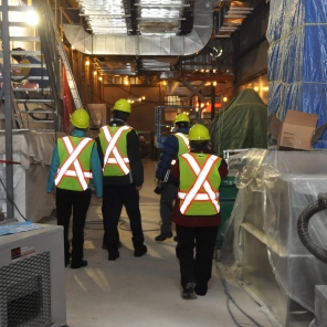Construction of new HSC Women's Hospital, 2014, interior tour. HSC Communications