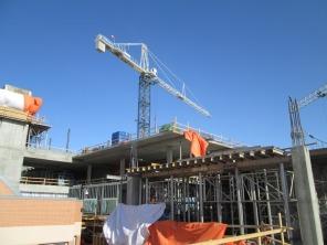 Construction of new HSC Women's Hospital, 1 April 2014. HSC Communications