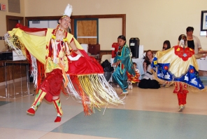 Aboriginal Day celebrations, 2008, bringing Indigenous customs into the hospital. HSC Archives/Museum HSCBS2