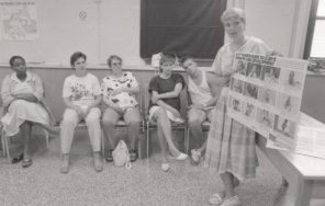 Women's Hospital photo for handbook Having your Baby at the HSC 1988. HSC Archives/Museum Negative Collection