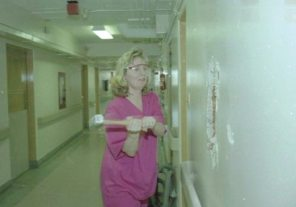 Women's Hospital, wall breaking party for new LDRP wing at WRS 2, 1999. HSC Archives/Museum Negative Collection