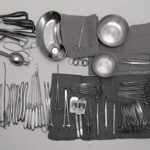 Obs Gyne Instrument set up, 1965. HSC Archives/Museum Negative Collection