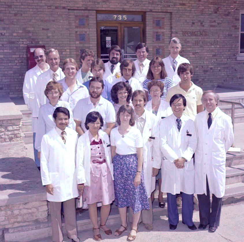 Obstetrics and Gynecology Staff 1982. HSC Archives/Museum Negative Collection