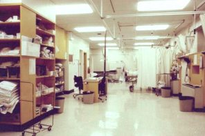 Rooms on WR4 and WS4 of Women's Hospital before move to LA-2, 1982. HSC Archives/Museum Negative Collection