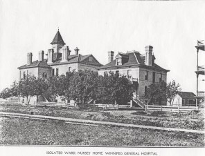 Isolated Maternity Ward, Nurses' Home, Winnipeg General Hospital, 1900s. HSC Archives/Museum
