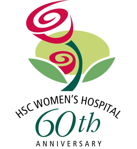 60th anniversary rose and rose bud graphic designed by Cam Walker, 2010. HSC Archives/Museum